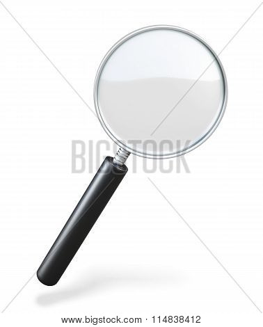 Magnifying Glass On A White Background. Loupe. 3D Illustration