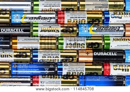 Alkaline batteries row