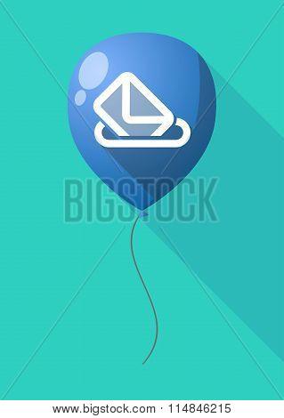 Long Shadow Balloon With  A Ballot Box