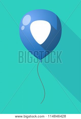 Long Shadow Balloon With A Plectrum