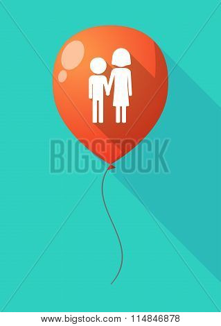 Long Shadow Balloon With A Childhood Pictogram