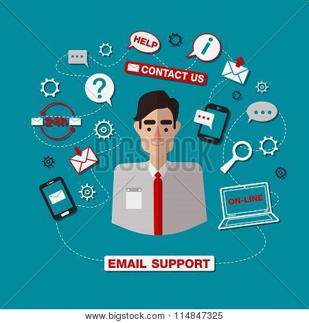 Technical Email Support Service With Man. Online Service