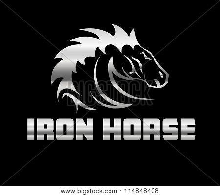 Head Of Agreesive Iron Horse