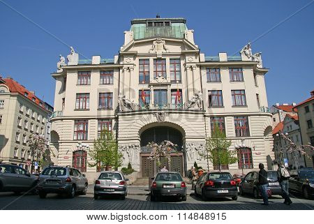 Prague, Czech Republic - April 24, 2010: New City Hall (nova Radnice) Is Seat Of Mayor Of Prague, Pr