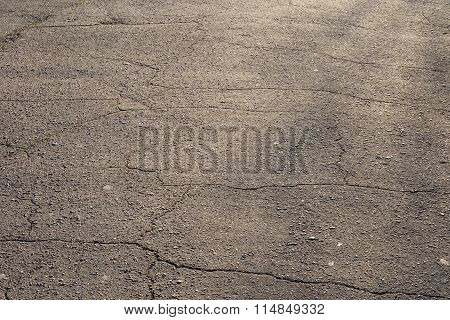 Cracked Asphalt Road Texture