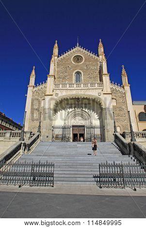 Madrid, Spain - August 23, 2012: San Jeronimo El Real That  Is A Roman Catholic Church