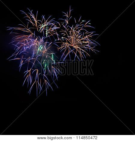 Beautiful Golden Blue Celebration Fireworks