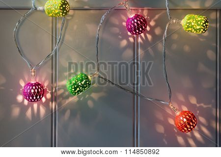 Colorful Christmas Ball Light Chain