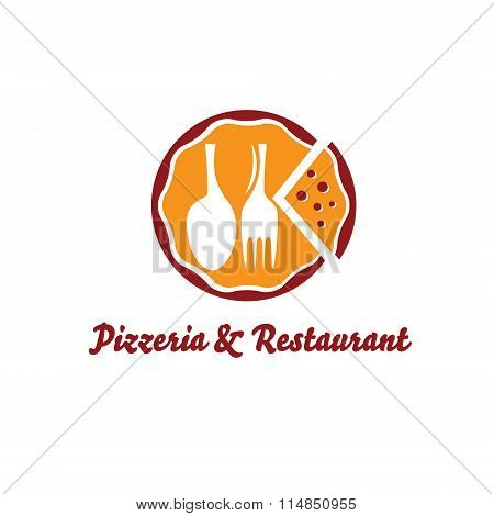 Pizzeria And Restaurant Vector Design Template
