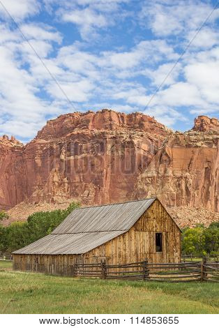 Barn Of The Gifford Homestead In Capitol Reef