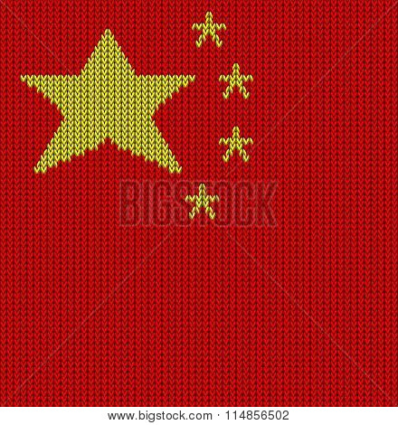 Knitted Flag Of China