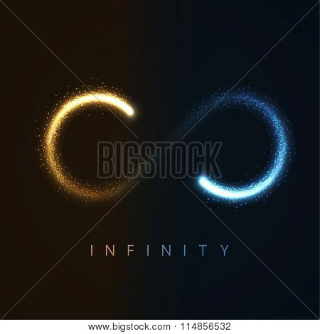 infinity sign from glittering stras