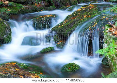 Waterfall in the national park Sumava, Czech Republic