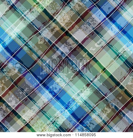 Grunge plaid background