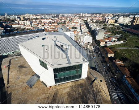 PORTO, PORTUGAL - CIRCA DECEMBER 2015: House of Music, Porto, Portugal