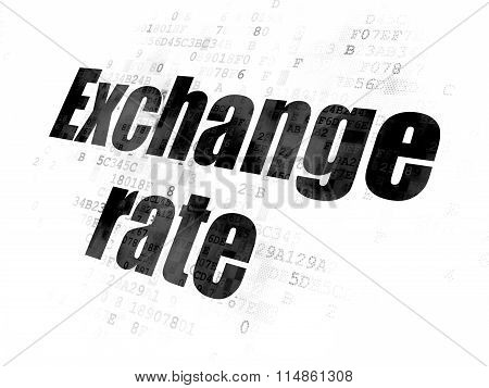 Currency concept: Exchange Rate on Digital background