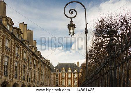 The Place Des Vosges, Paris, France.