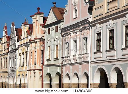 Telc Town Square With Renaissance Houses