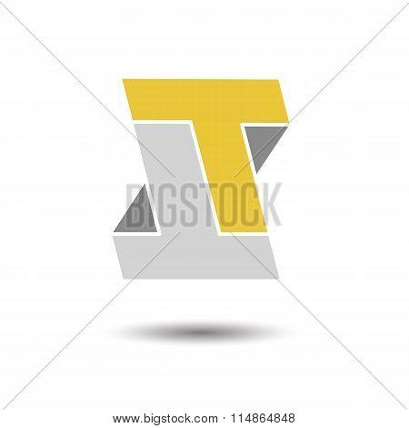 Double letter T icon