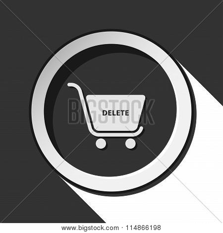 Icon - Shopping Cart Delete With Shadow