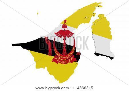 Brunei Flag Map