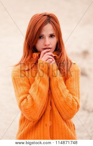 Pretty, Depressed, Fearful, Image & Photo | Bigstock