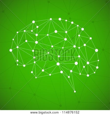 Abstract geometric brain network connections
