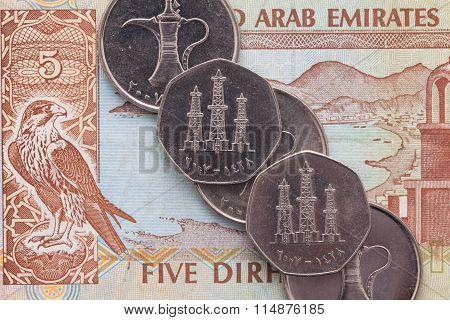 Different Money Of Arab Emirates Dirham