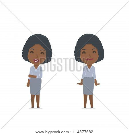 Funny Character Social Worker In Confident And Shy Poses