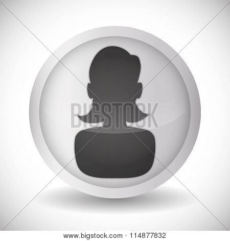 People profile silhouette