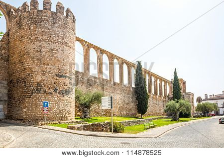 Castle Wall In Serpa, Portugal