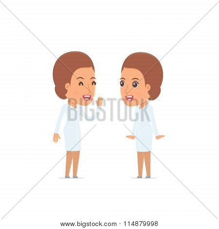 Cunning Character Nurse Gossiping And Telling Secret To His Friend