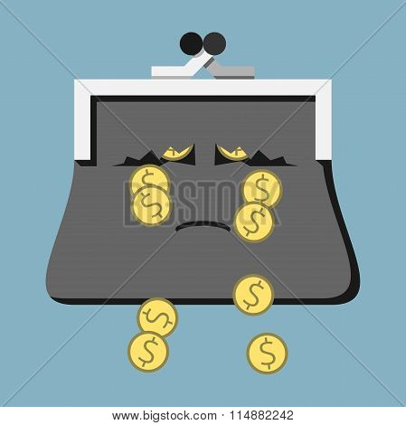 Sad Purse Losing Money