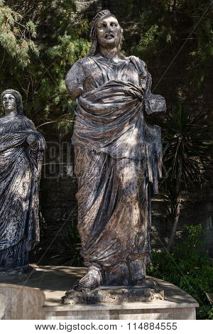 Statues Next To Bodrum Museum Of Underwater Archaeology In Mugla, Turkey