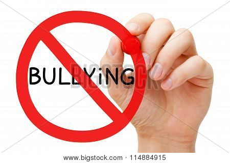 Bullying Prohibition Sign Concept