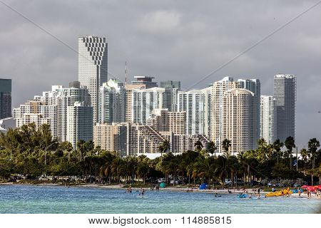 Hobie Beach in Miami, Florida
