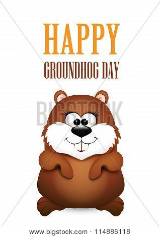 Happy Groundhog Day design