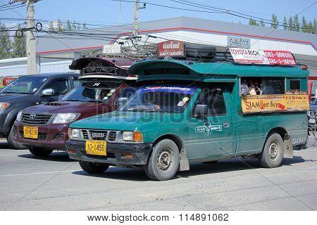 Green Mini Truck Taxi Chiangmai