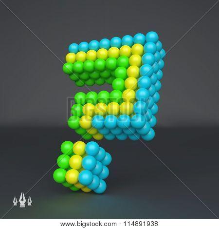 Question icon. Design element. 3d vector illustration.