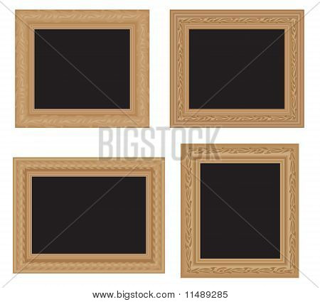 Antique wooden frames