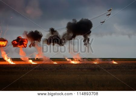 TUZLA,ROMANIA - JULY 04 : pilots performing at Tuzla airshow Aeromania on July 04, 2015 in Tuzla, Romania