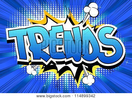 Trends - Comic book style word