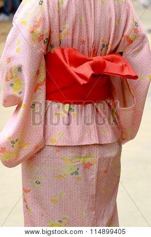 The Back Of A Kimono