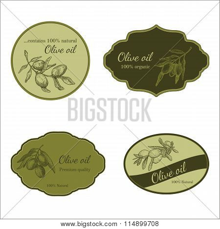 Set of stickers for olive production