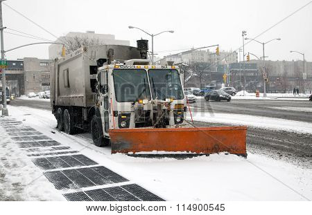 Sanitation Truck Street Snow Cleaning