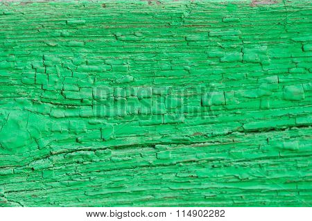 Grungy Wooden Texture With Green Paint