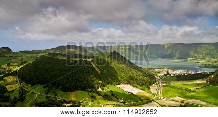 Azores, Volcanic Lake Sete Cidades In Sao Miguel Island
