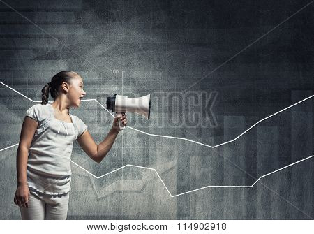 Kid with megaphone