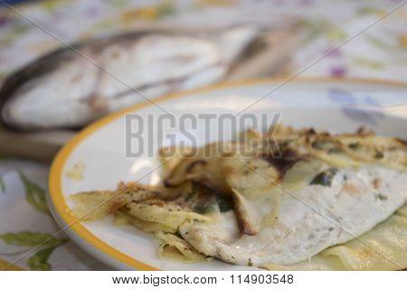Orata Fillet In Potato Crusts