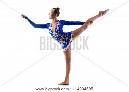 Teen Girl Doing Gymnastic Exercise